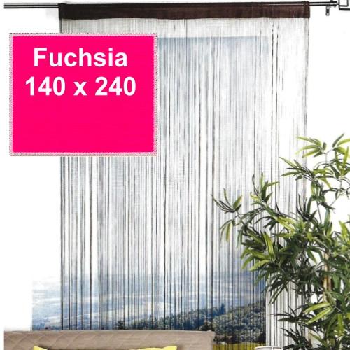 Trådgardin Lovely Casa - 140 x 240 cm, fuchsia