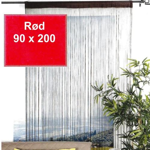 Trådgardin - 90 x 200 cm, rød