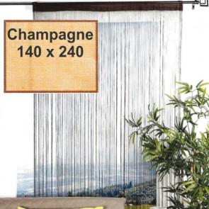 Trådgardin - 140 x 240 cm, champagne
