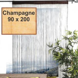 Trådgardin - 90 x 200 cm, champagne