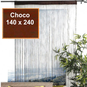 Trådgardin Lovely Casa - 140 x 240 cm, choco