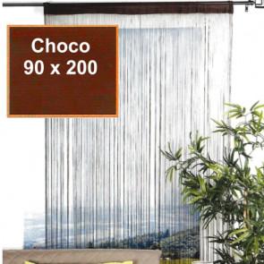 Trådgardin - 90 x 200 cm, choco