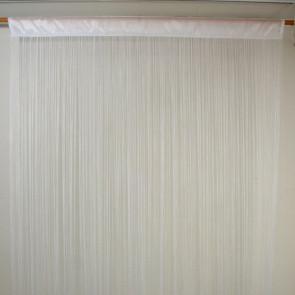 Waterfall trådgardin 100 x 250 cm - hvid