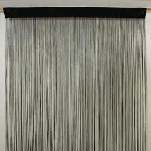 Waterfall trådgardin 100 x 250 cm - sort